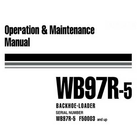 Komatsu WB97R-5 Backhoe Loader Operation & Maintenance Manual