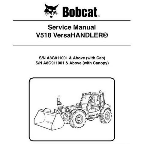 Bobcat V518 VersaHANDLER Workshop Repair Service Manual - 6986676
