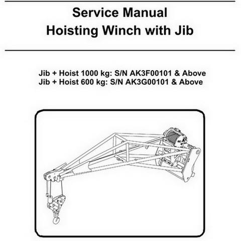 Bobcat Hoisting Winch with Jib Repair Service Manual - 6903303