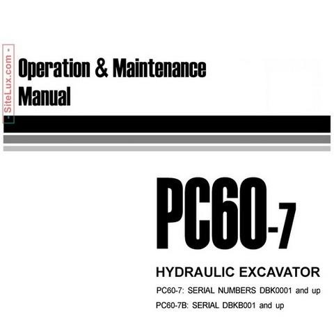 Komatsu PC60-7 Hydraulic Excavator Operation & Maintenance Manual - YEAM200300