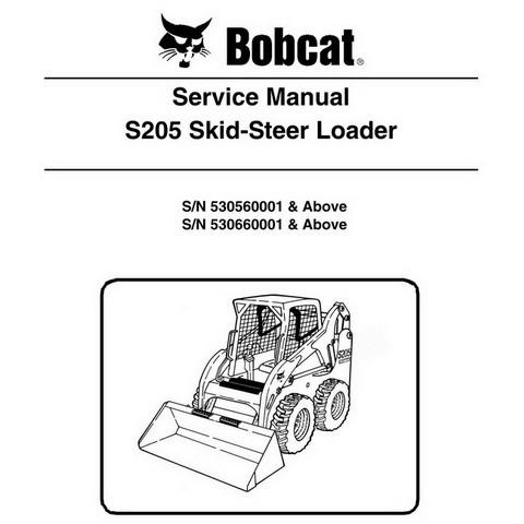 Bobcat S205 Skid-Steer Loader Service Manual - 6987037
