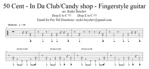 50 Cent - In Da Club/Candy Shop - Tab
