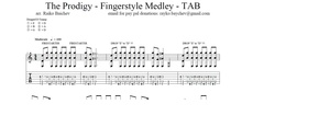 The Prodigy - Fingerstyle guitar compilation - TABS