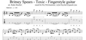 Britney Spears - Toxic - Fingerstyle guitar - Tabs