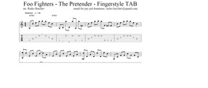 Foo Fighters - The Pretender - Fingerstyle TAB