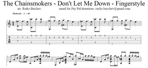 The Chainsmokers - Don't Let Me Down - Fingerstyle TAB