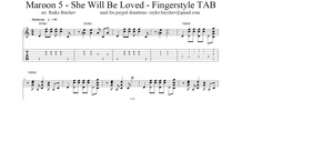 Maroon 5 - She Will Be Loved - Fingerstyle TAB