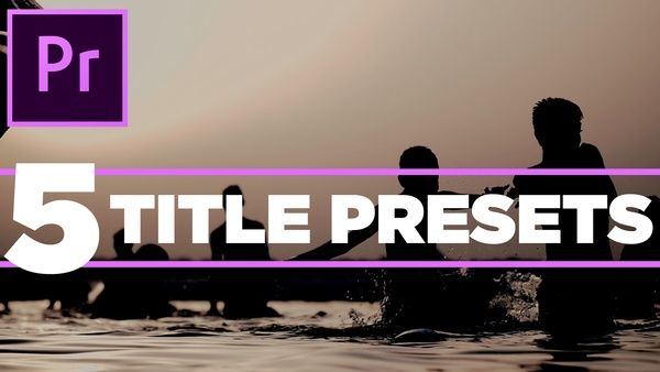 5 pack title templates or presets for Premiere Pro