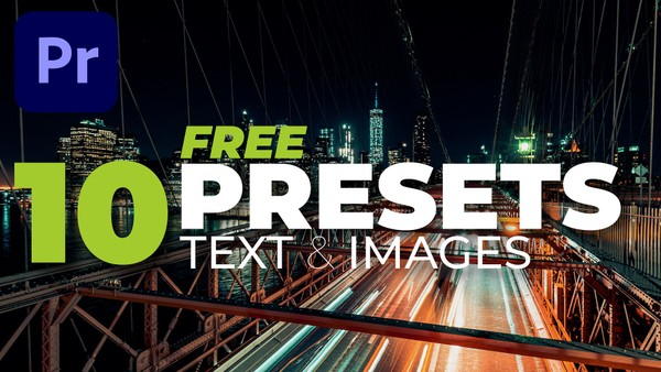 10 Text & Image presets for Premiere Pro
