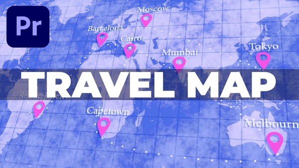 Premiere Pro travel map tutorial assets