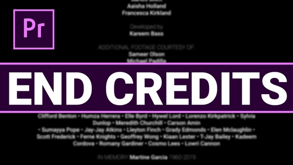 End credits template for Premiere Pro by Orange83