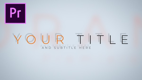CLEAN, MODERN, SIMPLE animated TITLE or INTRO template