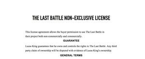 Sad War Music - The Last Battle License