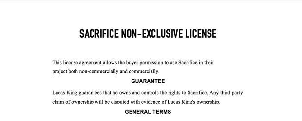 Dark Piano - Sacrifice License