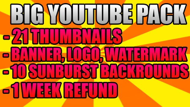 BIG YOUTUBE PACK! 7 Day Refund