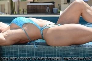 Pool side photo shoot