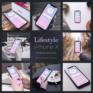 11 Premium iPhone X Lifestyle PSD Mockups