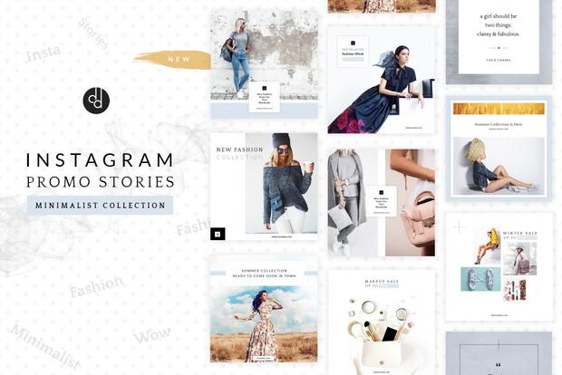 10 Instagram Stories Minimalist Pack