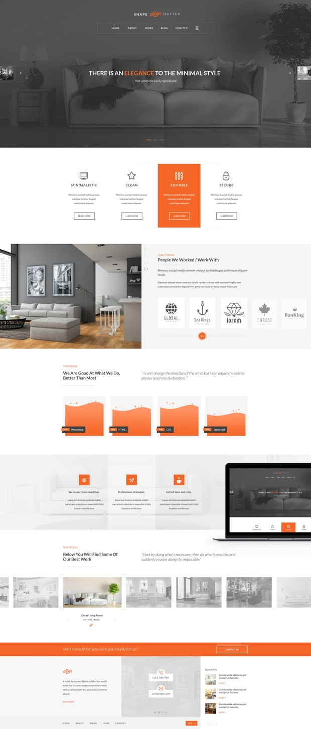 41+ PSD Landing Page Collection - Shapeshifter