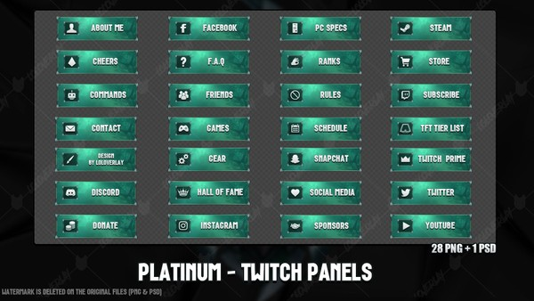 ✅ PLATINUM - TWITCH PANELS