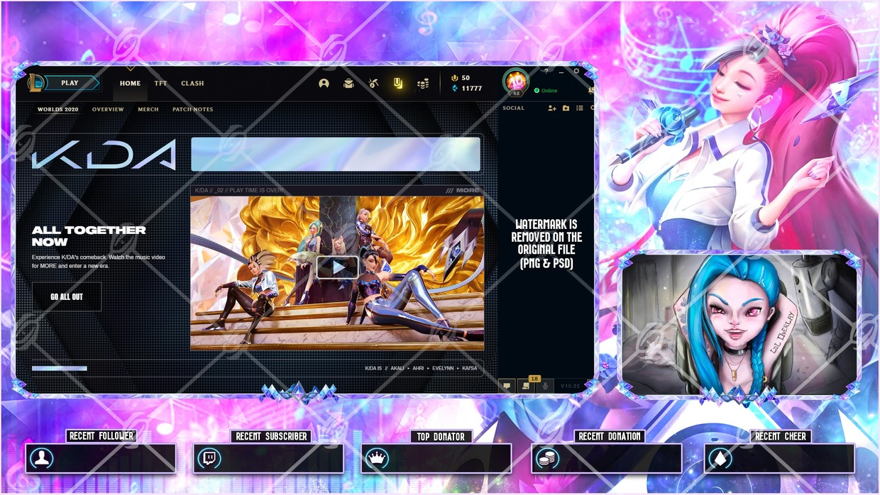 🎙️KDA ALL OUT SERAPHINE RISING STAR - LOBBY OVERLAY