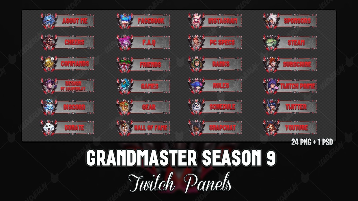 ✅ GRANDMASTER SEASON 9 - TWITCH PANELS