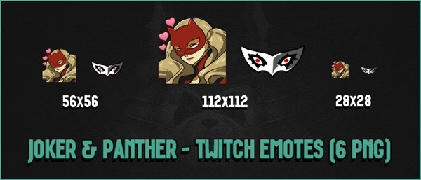 ✅ JOKER & PANTHER - TWITCH EMOTES