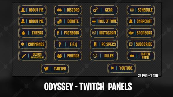 ODYSSEY - TWITCH PANELS