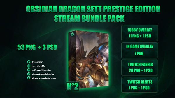 🐉OBSIDIAN DRAGON SETT PRESTIGE EDITION - STREAM BUNDLE #2 [54 PNG + 3 PSD]
