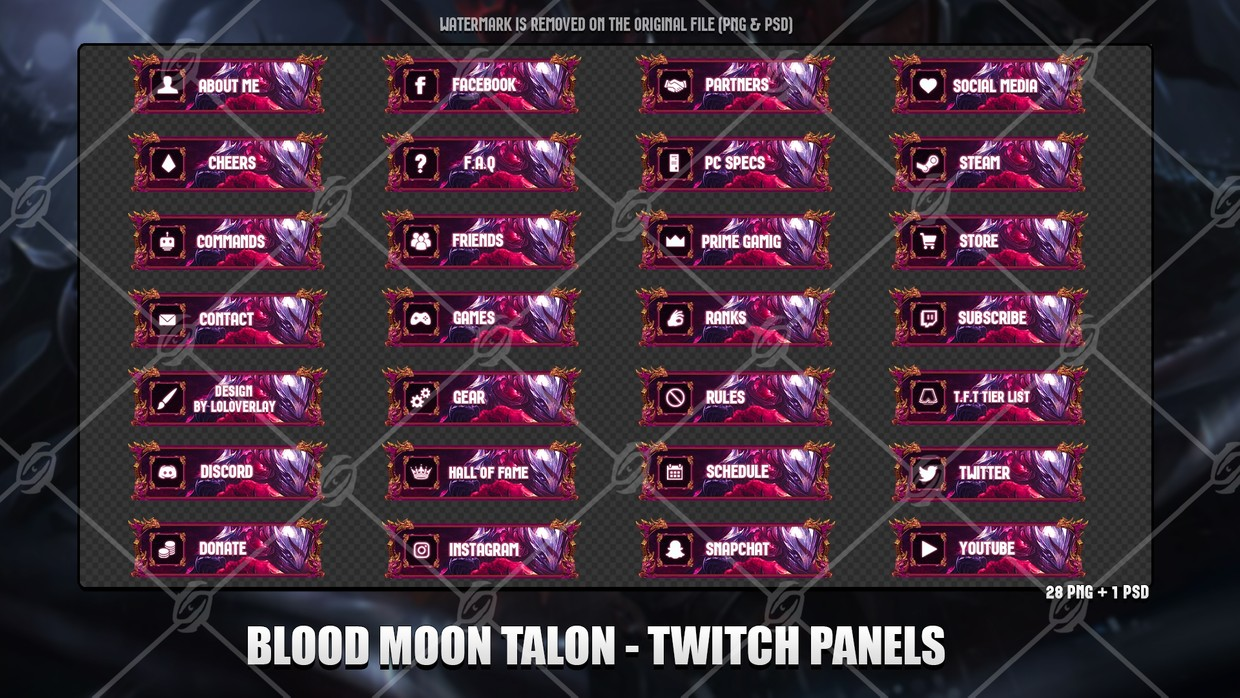 ✅BLOOD MOON TALON - TWITCH PANELS