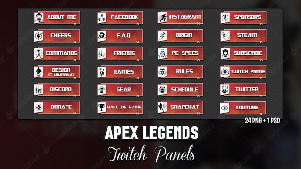 ✅ APEX LEGENDS - TWITCH PANELS