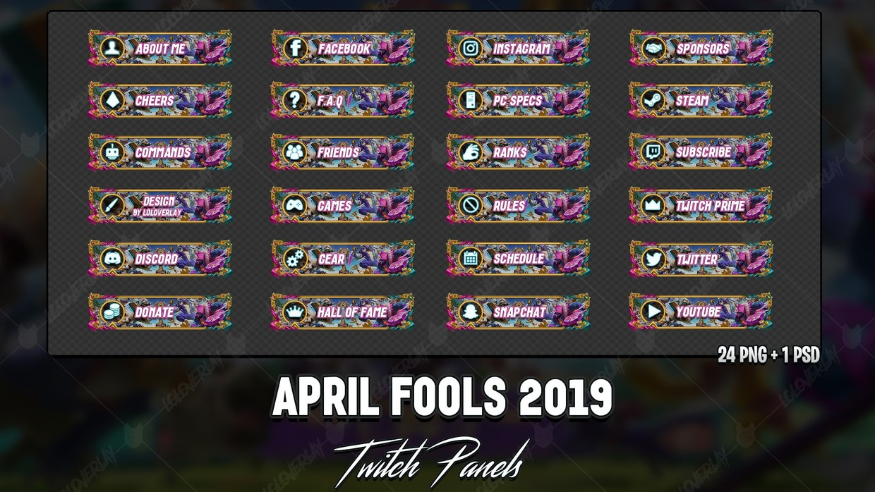 ✅ APRIL FOOLS 2019 - TWITCH PANELS