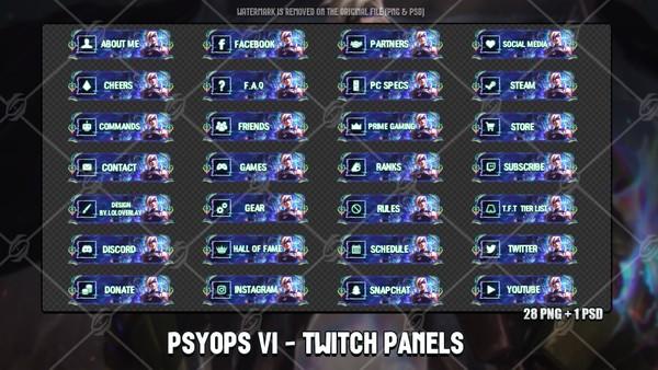 ✅ PSYOPS VI - TWITCH PANELS