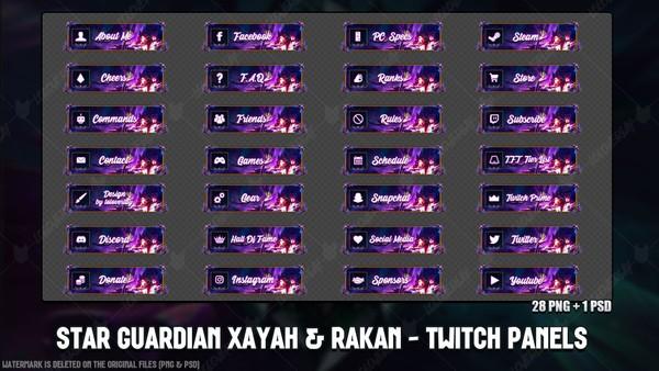 ✅ STAR GUARDIAN XAYAH & RAKAN - TWITCH PANELS