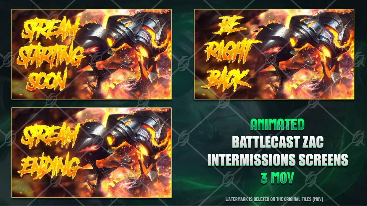🎞️BATTLECAST ZAC - ANIMATED INTERMISSIONS SCREENS