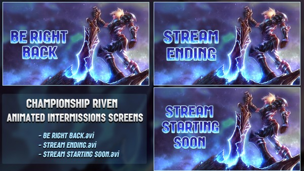✅🎞️ [ANIMATED] CHAMPIONSHIP RIVEN - INTERMISSIONS SCREENS