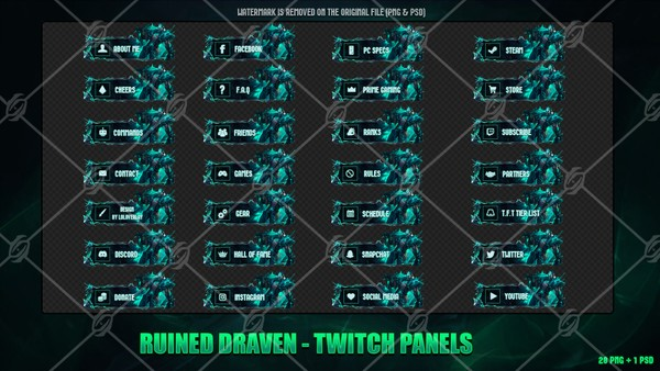 ☠️RUINED DRAVEN - TWITCH PANELS