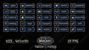 [ALLIANCE]  WOW : BATTLE FOR AZEROTH - TWITCH PANELS