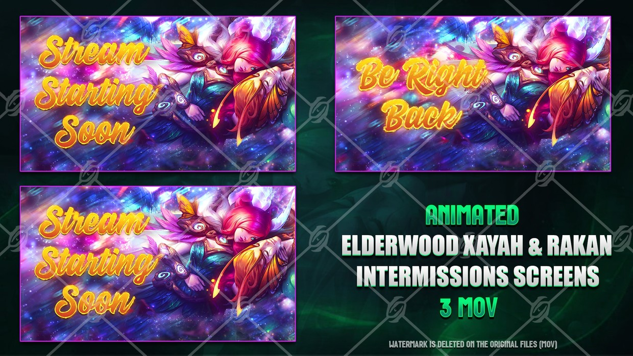 🍁🎞️ELDERWOOD XAYAH & RAKAN - ANIMATED INTERMISSIONS SCREENS