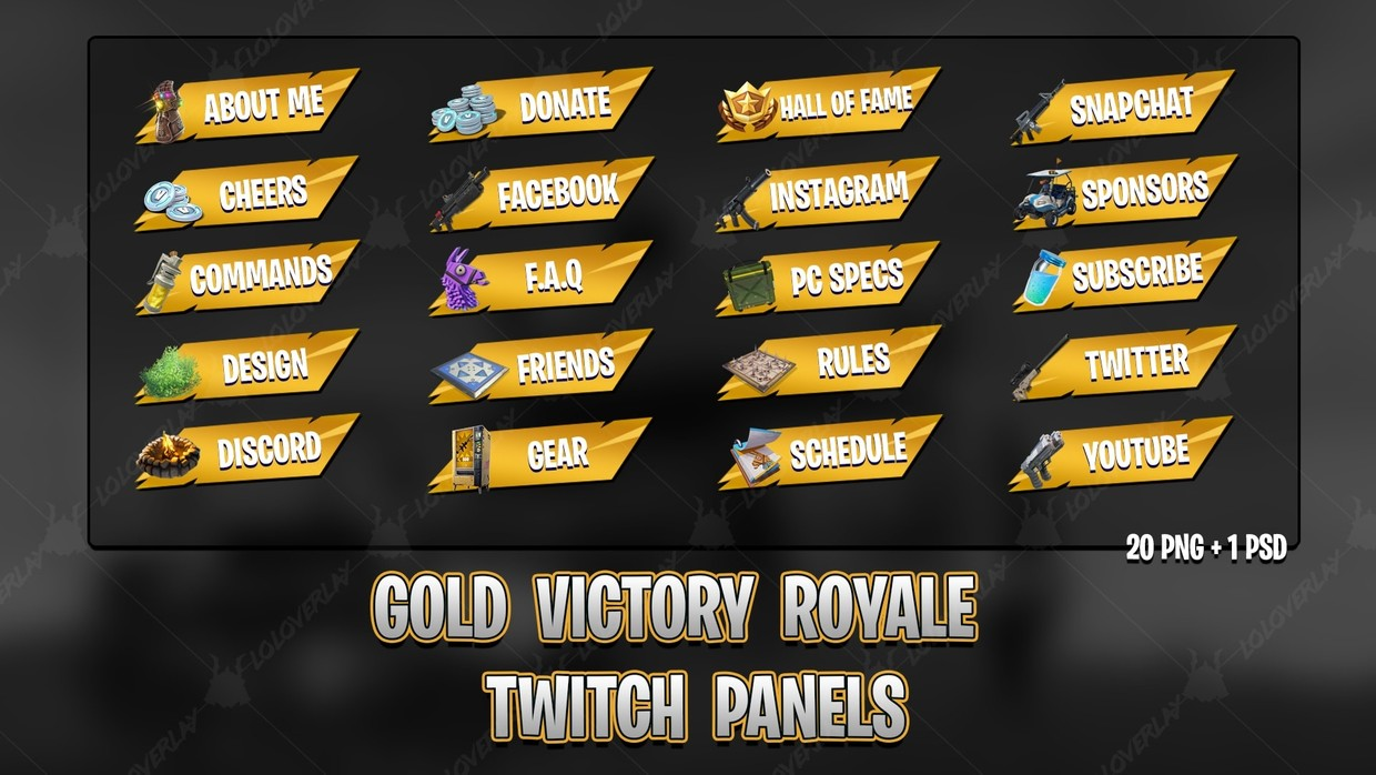 ✅[GOLD] VICTORY ROYALE 2018 - TWITCH PANELS