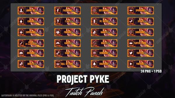 ✅ PROJECT PYKE - TWITCH PANELS