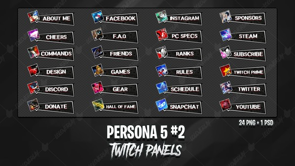 🆕 PERSONA 5 - TWITCH PANELS #2