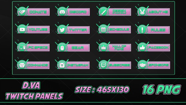 ✅D.VA - TWITCH PANELS #2