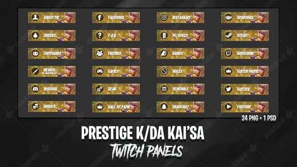 ✅ PRESTIGE KDA KAI'SA - TWITCH PANELS