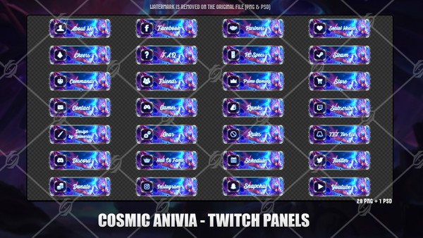 💫COSMIC ANIVIA - TWITCH PANELS