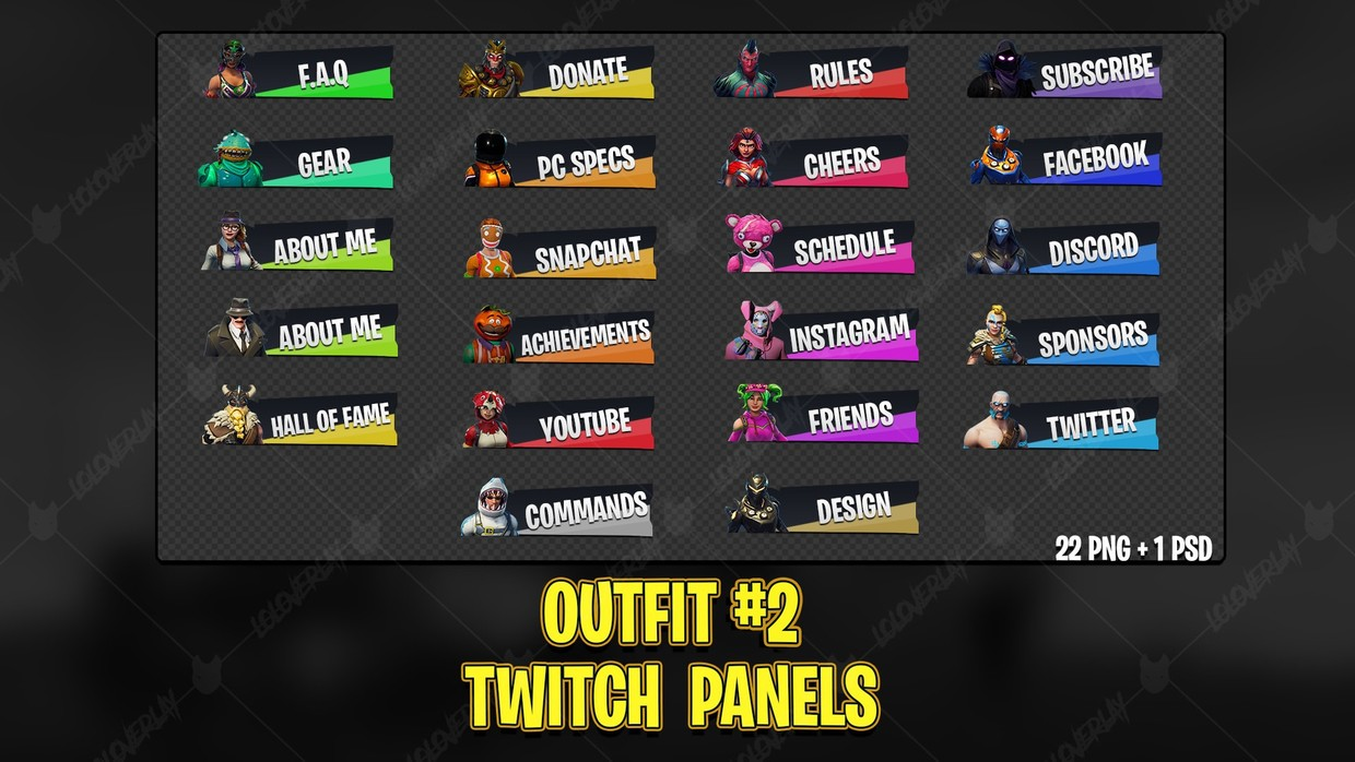 ✅ OUTFIT #2 - TWITCH PANELS