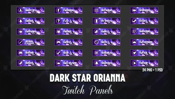 ✅ DARK STAR ORIANNA - TWITCH PANELS