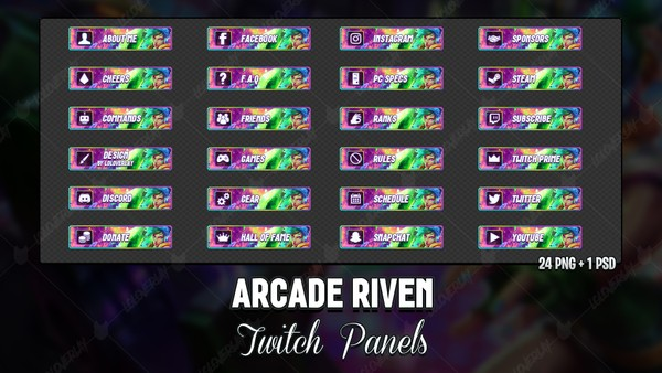 ✅ ARCADE RIVEN - TWITCH PANELS
