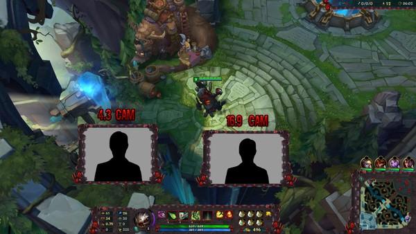 Battlecast Kog Maw - Stream & Cam Overlay [HUD : 50 MAP : 100]