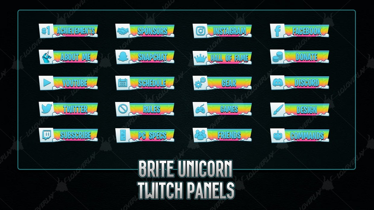 BRITE UNICORN - TWITCH PANELS